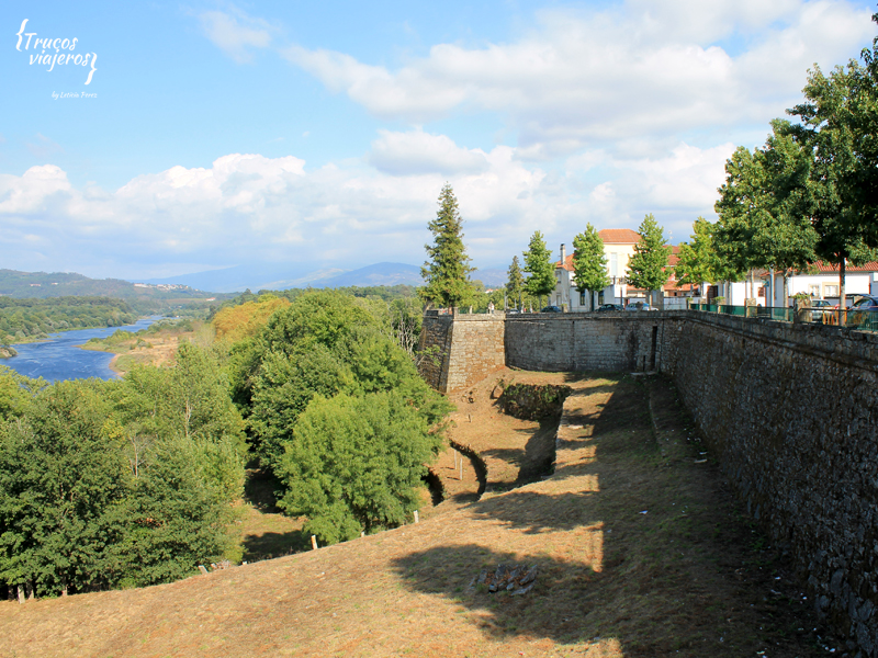 Monçao view from the walls to the Minho river and the Galician border