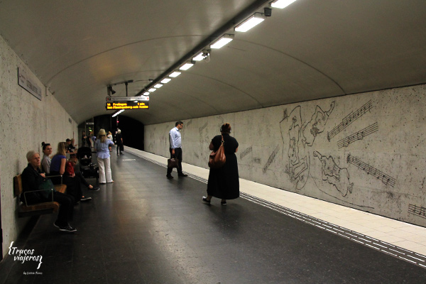 Modern art at Stockholms subway stations